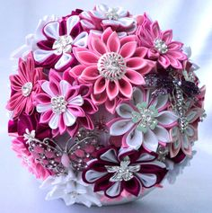 Wedding Bouquet brooch bouquet Pink Dream by LIKKO on Etsy, $246.00