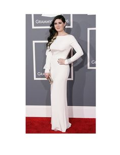 Morgan Kibby in Houghton FW12 Cheyne Gown at the 2013 Grammy Awards