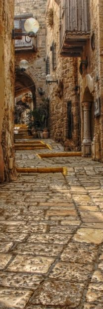 beautiful brown path thru the streets of Venice, Italy, province of Venezia , Veneto region Italy