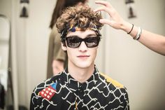 Clement Chabernaud, O'Shea Robertson, Baptiste Radufe and Sam Steele captured by Mireia Rodriguez at the backstage of Krizia Robustella during 080 Barcelona Fashion in exclusive for Fucking Young! Sam Steele, Baptiste Radufe, Barcelona Fashion, Backstage, Round Sunglasses, My Style, Beauty, Cosmetology