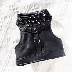Items similar to Black leather harness for Rock Star.- Items similar to Black leather harness for Rock Star. Cute Dog Clothes, Small Dog Clothes, Cat Harness, Leather Harness, Dog Accesories, Walking Jackets, Dog Boots, Dog Clothes Patterns, Animal Fashion