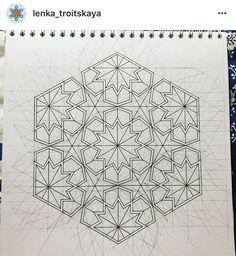 Ezkiz geometrik desen Islamic Art Pattern, Arabic Pattern, Geometry Pattern, Pattern Art, Geometric Drawing, Geometric Art, Geometric Designs, Sacred Geometry Art, Islamic Art Calligraphy