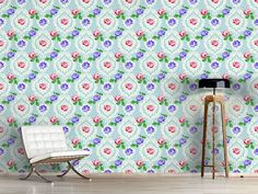 Design #Tapete Shabby Chic Rosen Flora, Vintage Rosen, Shabby Chic, Delicate, Curtains, Design, Home Decor, Self Adhesive Wallpaper, Damask