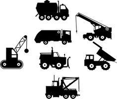 Construction Trucks II Vinyl Wall Art (Decal-Trucks-2)