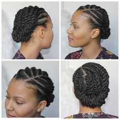 A few different angles of this flat twist style. A few different angles of this flat twist style. Flat Twist Styles, Hair Twist Styles, Flat Twist Hairstyles, Flat Twist Updo, Short Black Hairstyles, Braid Styles, Medium Hair Styles, Curly Hair Styles, Trendy Hairstyles