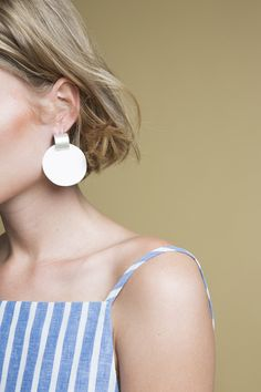 zelda murray porcelain earrings - bone small.