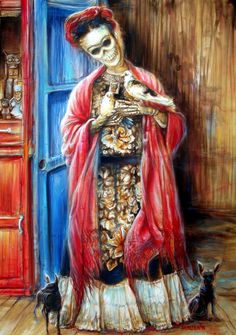 Frida With Doves by Heather Calderon