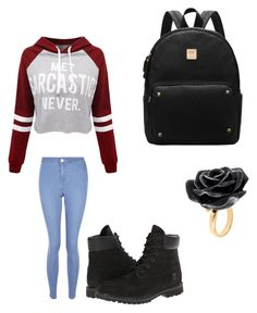 """""""Everyday"""" by aneeciyapinkgirl on Polyvore featuring WithChic, New Look, Timberland and Nach Bijoux"""