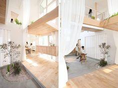 Modern Japanese Ecovillage Maison apporte Nature Inside, Littéralement: TreeHugger