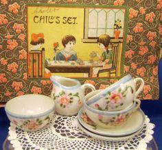 Partial Toy Tea Set 1930s Japan Childrens by MothersMiniTreasures, $15.00