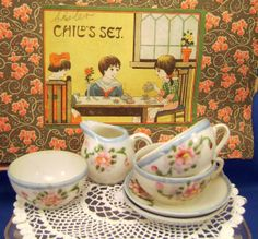 Vintage Partial Toy Tea Set 1930s Japan by MothersMiniTreasures, $8.50