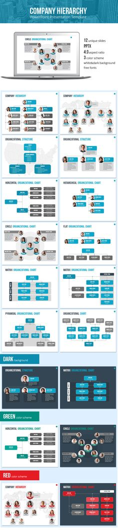 Organizational Chart and Hierarchy Template - Business PowerPoint Templates …