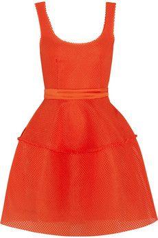Maje Diva honeycomb-mesh mini dress | NET-A-PORTER $255