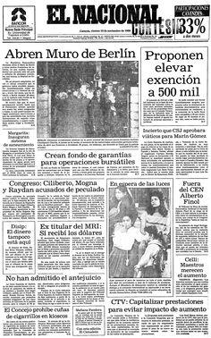 Caída del muro de Berlín. Publicado el 10 de noviembre de 1989.