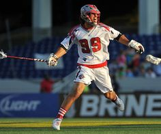 ANNAPOLIS, MD - JUNE 23:  Paul Rabil #99 of the Boston Cannons makes a one handed pass against the Chesapeake Bayhawks at Navy-Marine Corps Memorial Stadium on June 23, 2012 in Annapolis, Maryland. The Bayhawks defeated the Cannons 14-13. (Photo by Larry French/Getty Images)