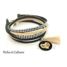 Bracelet Nounou en Or  cadeau nourrice  AneleDesign