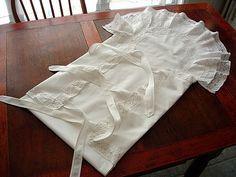 Coração antigas Linens -Antique Linen do batismo do bebê Cobertor de Eminem