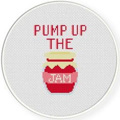 Pump Up the Jam Cross Stitch Illustration