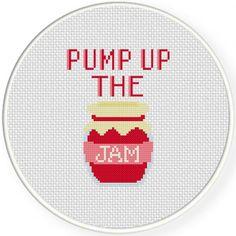 Pump Up the Jam Cross Stitch Illustration