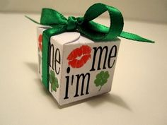 Gift Ideas | These Hershey Kiss petal boxes are the perfect way to give a little something sweet for St. Patrick's Day!