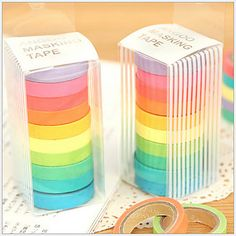 Colorful Rainbow Design Tape(10 PCS) – USD $ 10.99