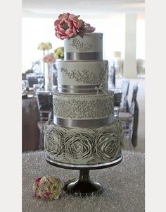 Glorious Gray Wedding Cakes for 2015 ~ we ♥ this! moncheribridals.com