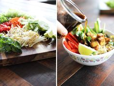 The Flourishing Foodie- Vietnamese noodle bowl Raw Food Recipes, Asian Recipes, Soup Recipes, Vegetarian Recipes, Healthy Recipes, Ethnic Recipes, Healthy Food, Asian Foods, Vegan Food
