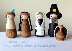 we bloom here: peg doll pilgrims & native americans :: tutorial