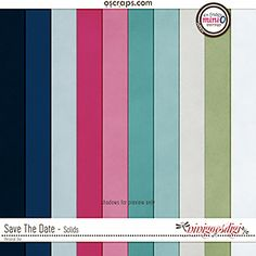 Save The Date Solids paper pack 10 beautifully textured solid papers coordinating with the March 2017 Mini O Colors Save The Date, Digital Scrapbooking, Bar Chart, Dating, Learning, Quotes, Studying, Bar Graphs, Teaching