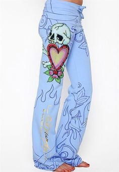 Rose Elastic Skull Pants. Grab yours today at 50% off!