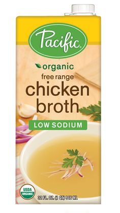Add flavor to your favorite warm dishes this winter with Pacific® Organic Free Range Low Sodium Chicken Broth.  Not only is this chicken broth gluten free, but it's also free from dairy, soy, and fat! Although Pacific Organic Free Range Low Sodium Chicken Broth only contains 70mg of sodium per cup, it's packed with flavor from organic onion powder and rosemary extract. Feel good about using this chicken broth in soups, stews, pastas, casseroles and more! Festival Foods Gluten-Free News