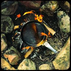 Preparing my new #pan for getting the first #beef ... she is definitely hungry .   Visit me on Youtube. Link in Bio!#bushcraft #wilderness #outdoors #hiking #outdooradventures #woodsman #themountainiscalling #getoutdoors #bushcrafting #wildernessculture #getoutthere #getoutside #getoutstayout #survival #camping #thegreatoutdoors #stayandwander #campvibes #camplife #takeahike #wildernessculture #theoutbound #adventureculture #outdoorpics #nature #campfire #foodporn #campfirecooking