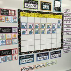 organized and cohesive classroom calendar