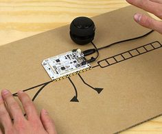 Use the Touch Board to re-imagine the Theremin!For those of you who have not heard of a theremin, it is an early electronic musical instrument that is controlled or played without physical touch. The original theremin was designed by inventor Leon Theremin and patented in 1928. In a traditional theremin, the instrument is controlled via two metal antennae that sense the relative position of the player's hands. One of the antennae is for controlling the frequency and the other for volume...