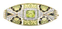 Masriera and Carreras Jewellery, gold and precious stones Art Deco brooch, circa 1925