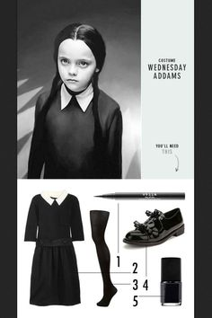 Wednesday Addams. It's not a costume. It's real life.