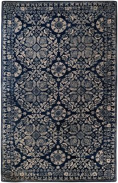 Surya Smithsonian Hand Tufted New Zealand Wool Rug 9 x 13 Rectangle Home Decor Rugs Rugs Rug Direct, Blue Decor, Traditional Rugs, Blue China, Blue Rug, Rugs, Blue Area Rugs, Hand Tufted Rugs, Rugs In Living Room