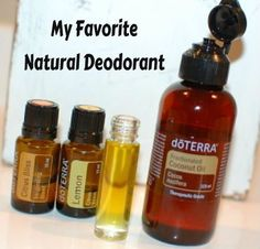 """My Favorite Natural Deodorant"" ~ FCO, Citrus Bliss & Lemon EO in a roller bottle ~ Fill 10ml roller bottle 1/2 full of FCO, then add Citrus Bliss & Lemon to fill."