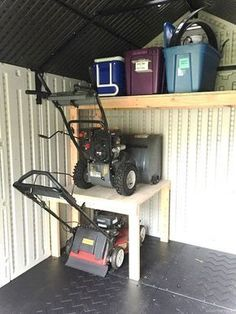 101 Garage Organization Ideas That Will Save You Space! DIY Garage Organization Ideas That Will Save You Space! DIY Guy organizing garage storageBest Garage Organization and Storage Hacks Ideas 59 Garage Organization Tips, Diy Garage Storage, Shed Storage, Storage Hacks, Garage Shelving, Organizing Ideas, Garage Storage Solutions, Shelving Ideas, Small Garden Tool Storage