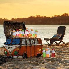 Dopper waterfles bestellen, ideaal voor op het strand of vakantie.