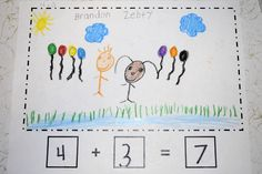 Mrs. Ricca's Kindergarten: Addition math stories