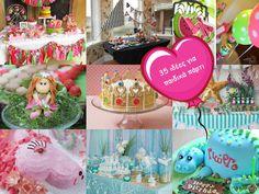 35 ιδέες και links, για πάρτι γενεθλίων, διακόσμηση και τούρτες, για αγόρια και κορίτσια. Enjoy!