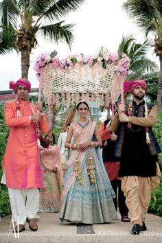 Looking for Offbeat bride in light pink and blue gota Patti lehenga entering? Browse of latest bridal photos, lehenga & jewelry designs, decor ideas, etc. on WedMeGood Gallery. Indian Wedding Pictures, Indian Wedding Theme, Indian Wedding Planning, Bridal Pictures, Indian Bridal Party, Party Pictures, Indian Weddings, Wedding Mandap, Wedding Bride
