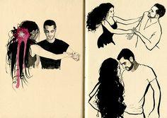 Salsa Dance Sketchbook on Behance