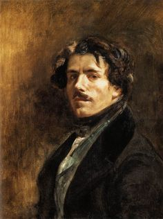 Eugene Delacroix, zelfportret,  Manet had grote bewondering voor hem en bezocht hem zelfs in zijn atelier (zoals beschreven in het boek van Antonin Proust)