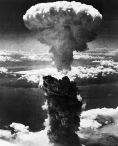 FILE - In this Aug. 9, 1945 file photo, a mushroom cloud rises moments after the atomic bomb was dropped on Nagasaki, southern Japan. On two days in August 1945, U.S. planes dropped two atomic bombs, one on Hiroshima, one on Nagasaki, the first and only time nuclear weapons have been used. (AP Photo/File)