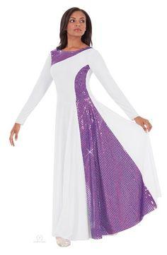 Womens Praise Liturgical Dance Skirt Purple S-LSize New Falda Nueva Danza Morada