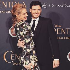 Lily James and Richard Madden for Cinderella