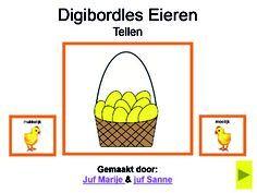 Digibordles Eieren tellen en andere digibord lessen (rekenen en taal)