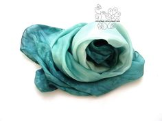 Excited to share the latest addition to my #etsy shop: Silk scarf Teal Aqua hand painted ombre dyed feminine pure silk bridesmaid gifts for Mom http://etsy.me/2CXZ6MP #accessories #scarf #green #birthday #valentinesday #blue #tealsilkscarf #handpaintscarf #tealombresca